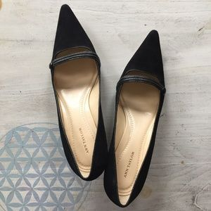 Ann Taylor low heel suede pumps size 10M